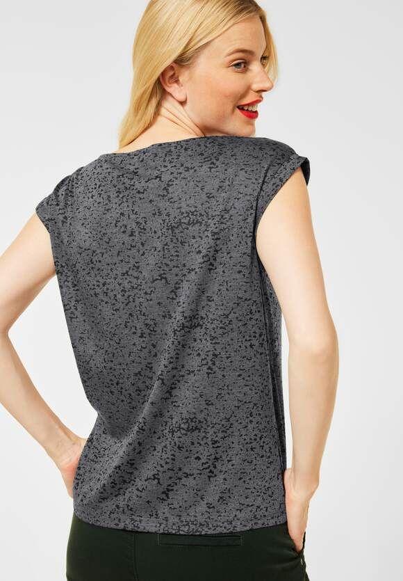 T-Shirt med paisley print, Carbon Gray 316791