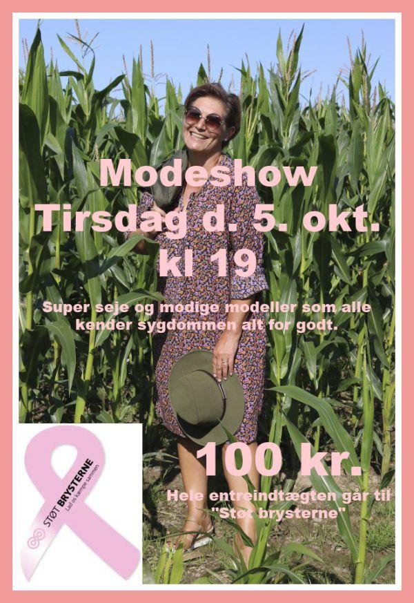 Modeshow, støt brysterne, tirsdag d. 5. okt
