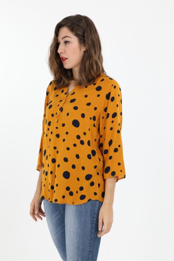 Gul Annette Chris skjorte