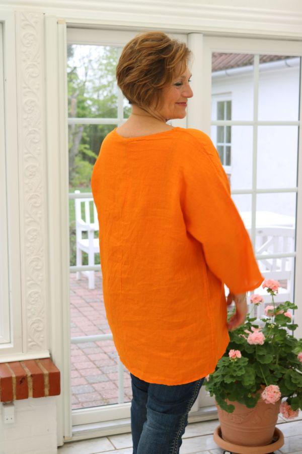 Orange hør bluse, Sannie