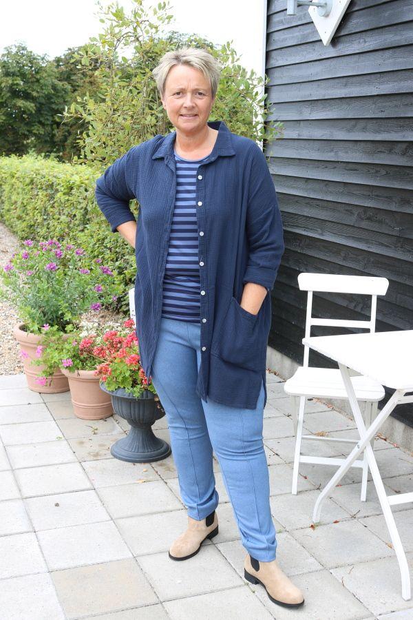 Mørk blå indejakke / skjorte Judy JK