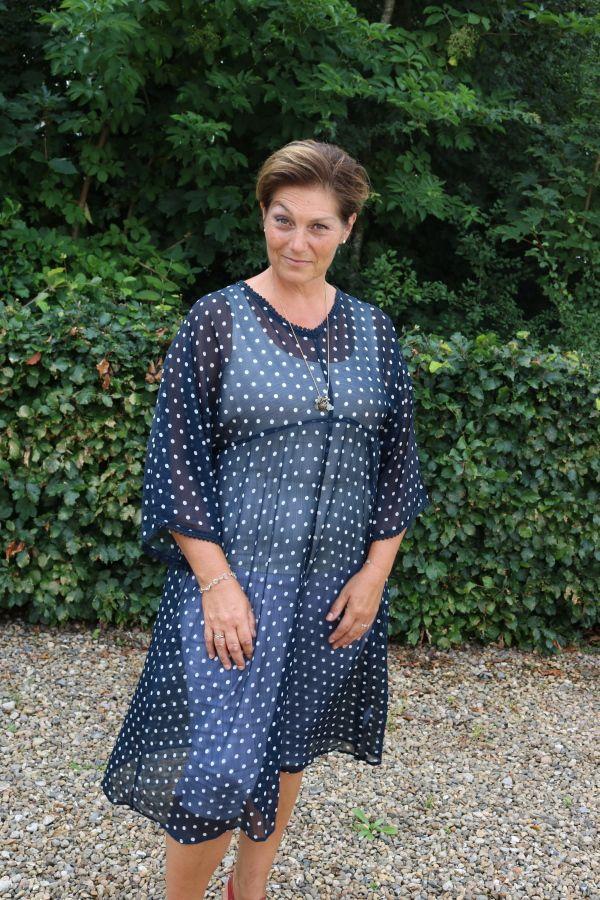 Blå transparent kjole, Oili dress